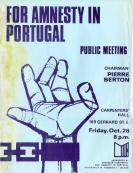 #20 1966 10 28 For Amnesty in Portugal - Poster